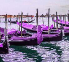 Purple Gondolas Sticker