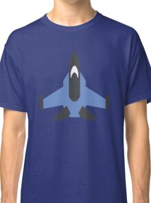 Blue Military Jet Icon Classic T-Shirt