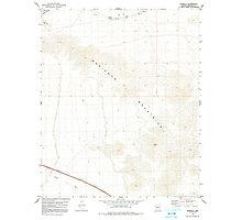 USGS TOPO Map Arizona AZ Estrella 311300 1979 24000 Photographic Print