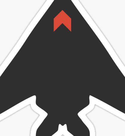 Stealth Bomber Icon Sticker