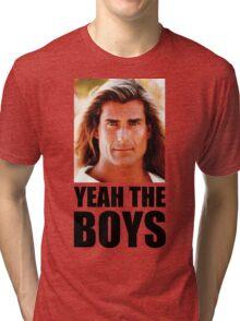 Yeah the boys - White Tri-blend T-Shirt