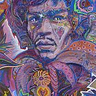 Jimi Hendrix Portrait / Purple Haze by David Sanders