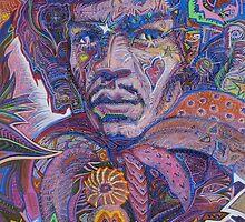 Jimi Hendrix Portrait / Purple Haze by David Sanders