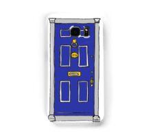221b Baker Street Door (Sherlock) - Blue Samsung Galaxy Case/Skin
