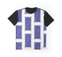 221b Baker Street Door (Sherlock) - Blue Graphic T-Shirt