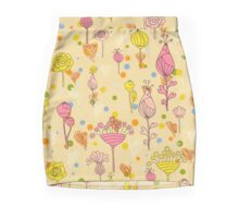 Floral pattern with hearts Mini Skirt