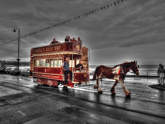 isle of man horse tram by manxhaven redbubble. Black Bedroom Furniture Sets. Home Design Ideas