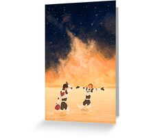 Orange Sea - Klance Greeting Card