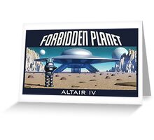 Forbidden Planet Altair IV Greeting Card
