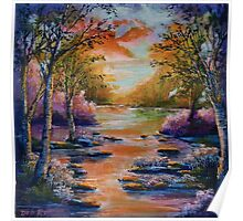 Colorful Landscape Poster