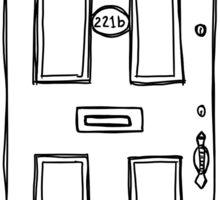 221b Baker Street Door - Monochrome Sticker