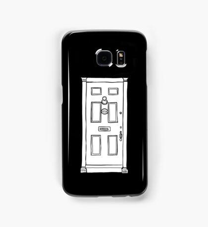 221b Baker Street Door - Monochrome Samsung Galaxy Case/Skin