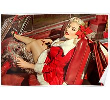 Santa Woman Poster