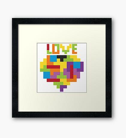 Love Tetris  Framed Print