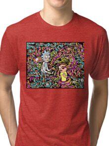 Trippy Rick And Morty Tri-blend T-Shirt