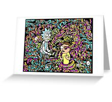Trippy Rick And Morty Greeting Card