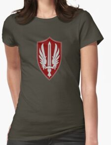 Battlestar Galactica Pegasus insignia Womens Fitted T-Shirt
