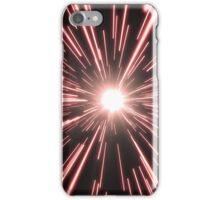 Tunnel of bright red light iPhone Case/Skin