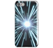 Tunnel of bright blue light iPhone Case/Skin