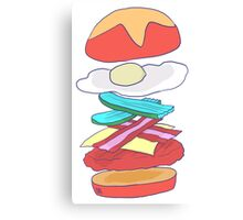 Burger Perfection Canvas Print
