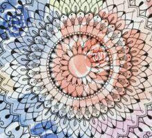 Mandala on Watercolor Flowers Sticker