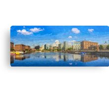 Salthouse Dock Panorama with oil paint effect Metal Print