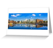 Salthouse Dock Panorama with oil paint effect Greeting Card