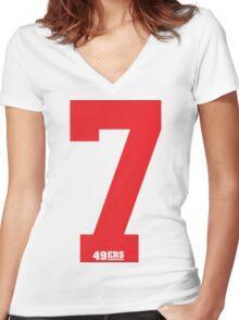 kaepernick seven Women's Fitted V-Neck T-Shirt
