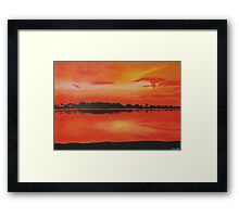 Red sky at night. Framed Print