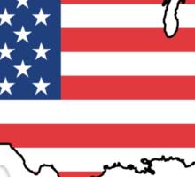 United States Flag Design Sticker