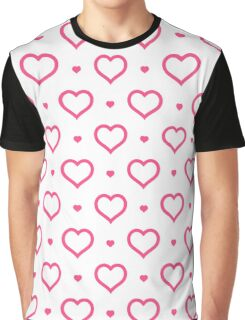 Pink line heart Graphic T-Shirt