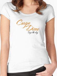 Dead Poets Society - Carpe Diem - Seize The Day Women's Fitted Scoop T-Shirt