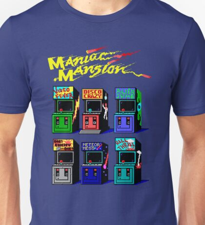 MANIAC MANSION ARCADE ROOM Unisex T-Shirt