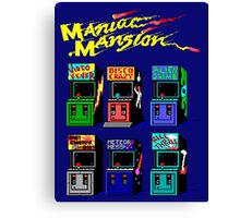 MANIAC MANSION ARCADE ROOM Canvas Print