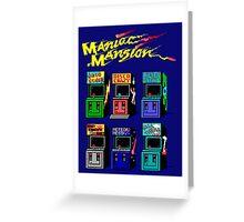 MANIAC MANSION ARCADE ROOM Greeting Card