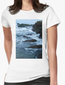 Streaming waves - Long Beach, NY Womens Fitted T-Shirt