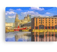The Albert Dock and Royal Liver Building Canvas Print