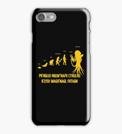 Lovecraft Cthulhu Darwinism iPhone Case/Skin