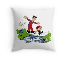 Little Viking and Strong Man Throw Pillow