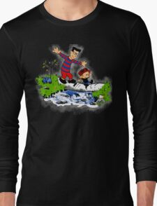 Little Viking and Strong Man Long Sleeve T-Shirt