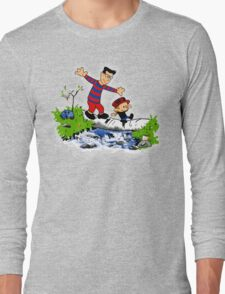 Little Viking and Strong Man Long Sleeve T-Shirt