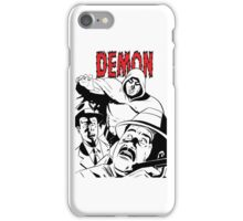 THE DEMON B/W (clear background - no white in design) iPhone Case/Skin