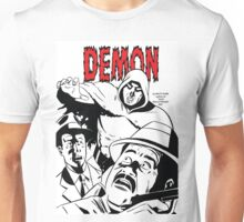 The DEMON plain (White background printed) Unisex T-Shirt