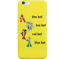 One bot, two bot, red bot, blue bot iPhone Case/Skin