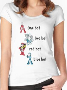 One bot, two bot, red bot, blue bot Women's Fitted Scoop T-Shirt