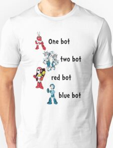 One bot, two bot, red bot, blue bot T-Shirt