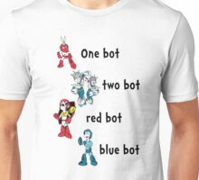 One bot, two bot, red bot, blue bot Unisex T-Shirt