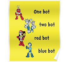 One bot, two bot, red bot, blue bot Poster