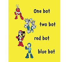 One bot, two bot, red bot, blue bot Photographic Print