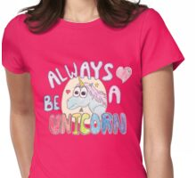Always Be A Awesome Unicorn Womens Fitted T-Shirt